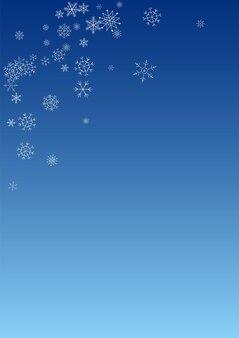 White snowfall vector blue background. christmas snowflake texture. gray sky design. holiday snow illustration.