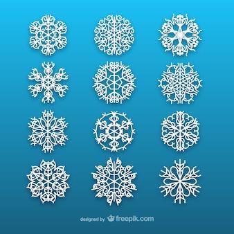 White snowflakes collection