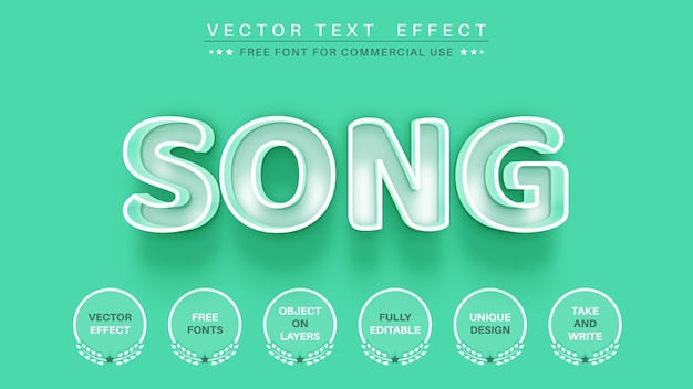 White song edit text effect font style