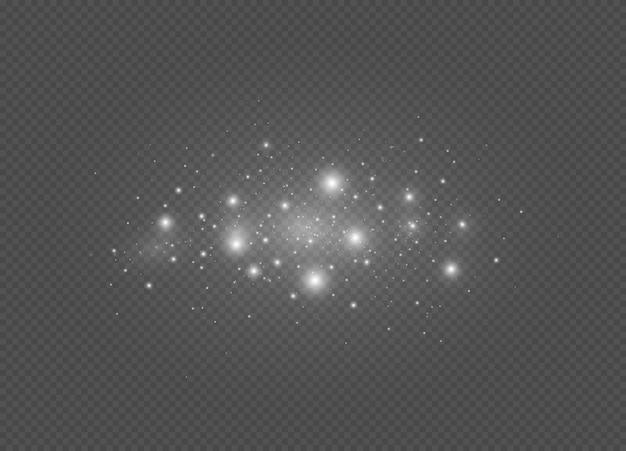 흰색 불꽃과 반짝이는 특수 조명 효과 글로우 조명 효과