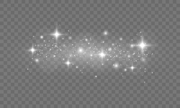 白い火花とキラキラの特殊光効果グロー光効果