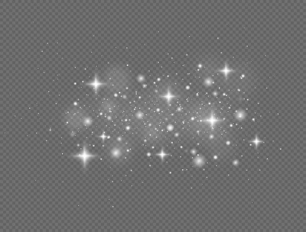 화이트 스파크 및 반짝이 특수 조명 효과 글로우 조명 효과