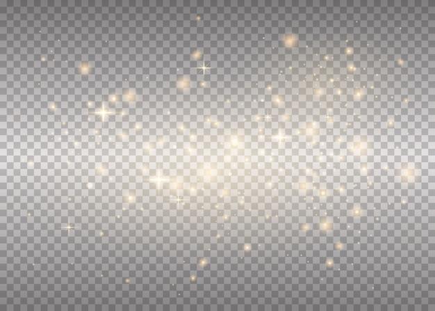 白い火花が光る特別な光の効果