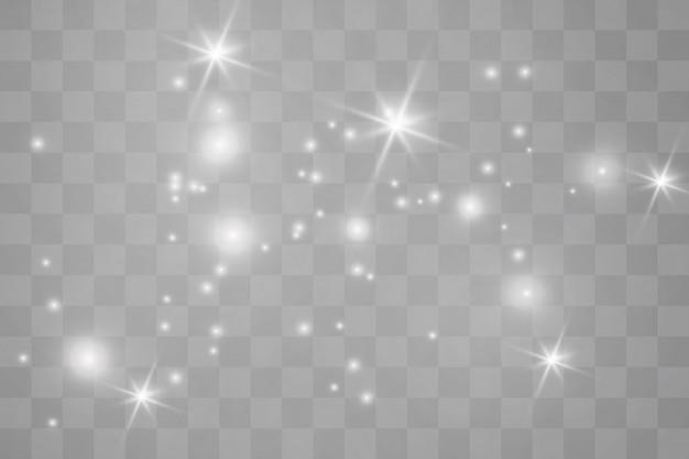 White sparks glitter special light effect.