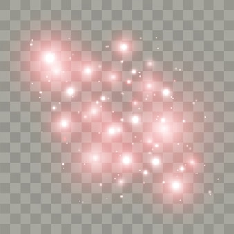 White sparks stars glitter special light effect.  sparkles on transparent background.  sparkling magic dust particles