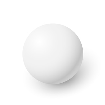 White sphere. ball.  illustration.