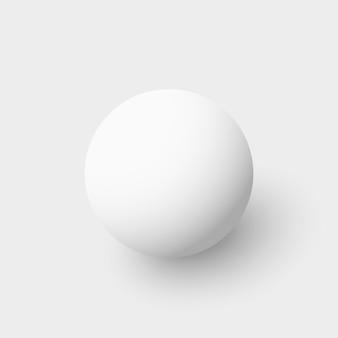 White sphere. ball.