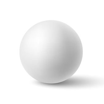 White sphere with shadow. ball.