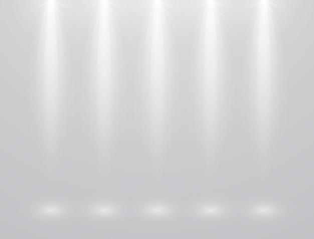 White spotlight design concept on gray background