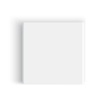 White square box. package.  illustration.