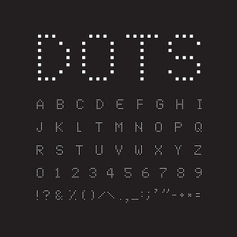 White square font on black background. abstract geometric vector letters.