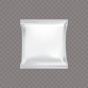 White square plastic packaging for food