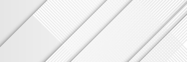 White square shape abstract technology banner