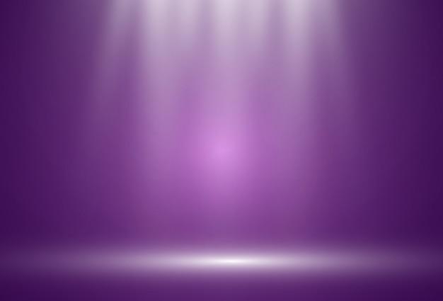 スポットライトが上から照らす白いステージ。透明な背景の背景。