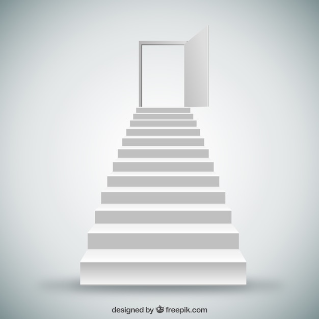 White Stairs And Door