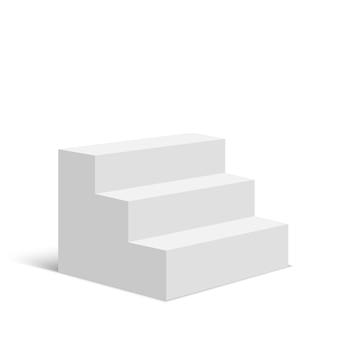 白い階段のステップベクトル図