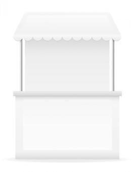 White stall vector illustration