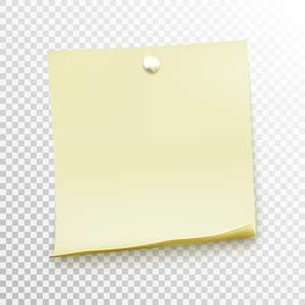 White sticky note isolated on background