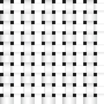 White stripe weave pattern seamless background