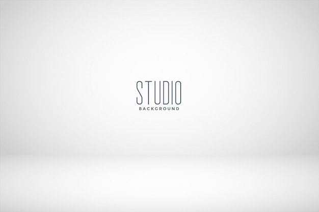 White studio empty room background