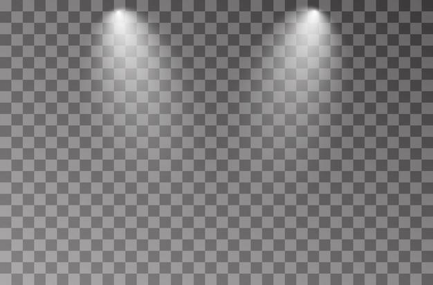 White studio spotlight