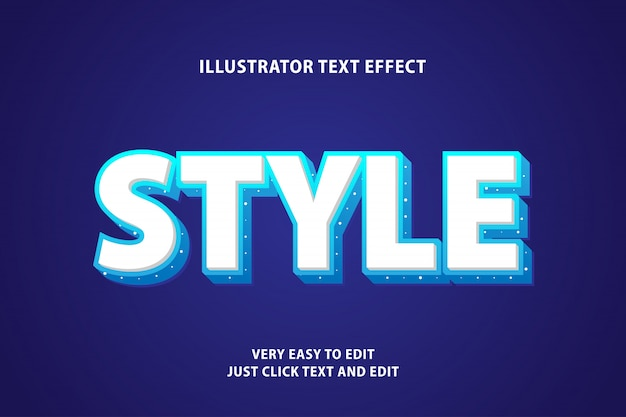 White style text effect, editable text