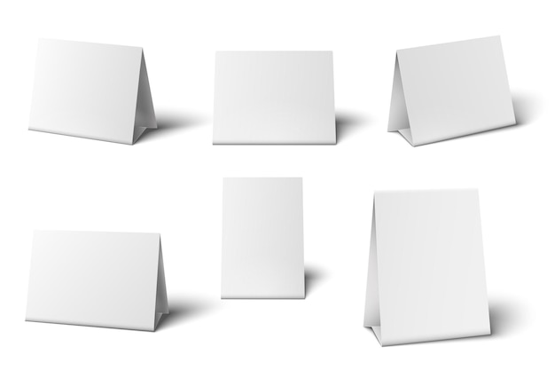 White table cards set