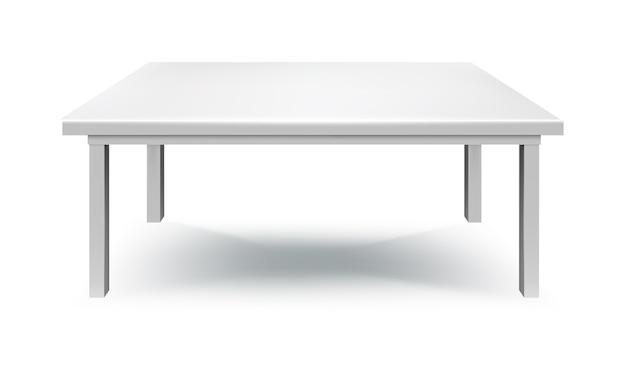 Белый стол изолирован