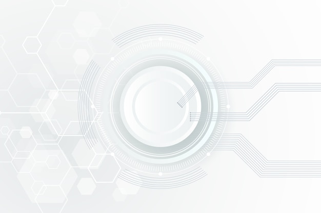 White technology background