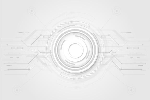 White technology background