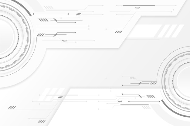 White technology wallpaper