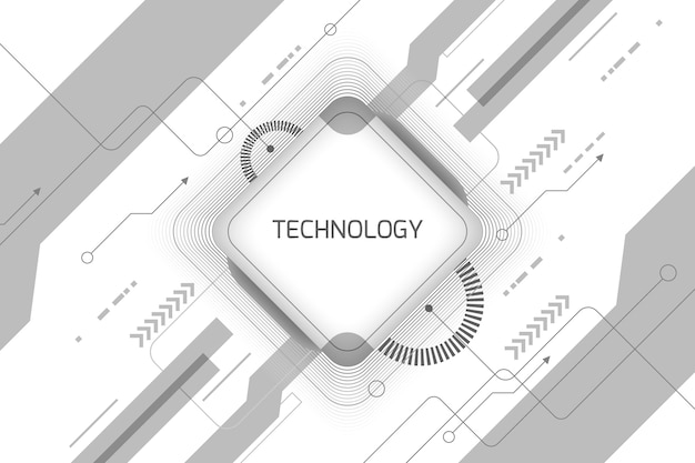 White technology wallpaper