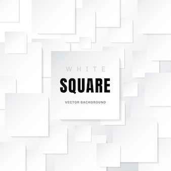 White template paper squares white background