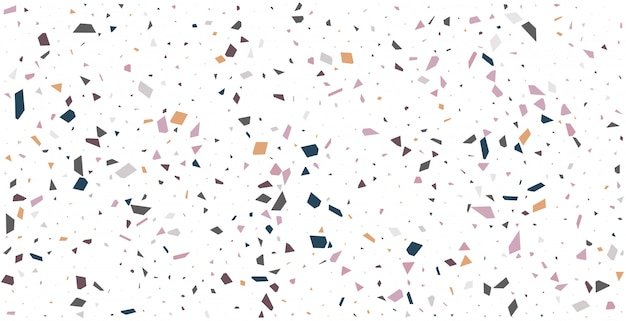White terrazzo floor tile pattern abstract background