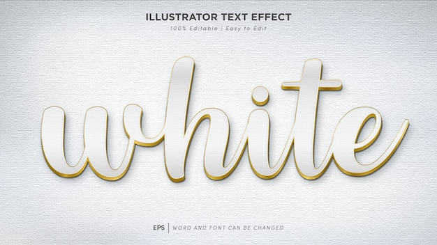 White text effect editable font