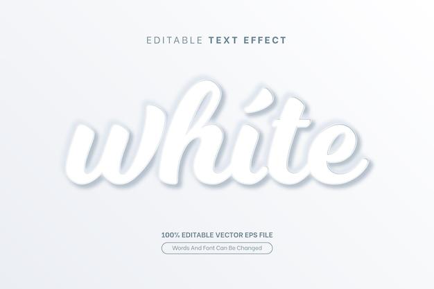 ホワイトテキスト効果ミニマリストエンボス編集可能なテキスト効果