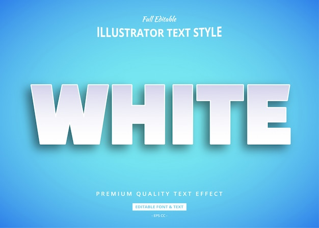 White text effect