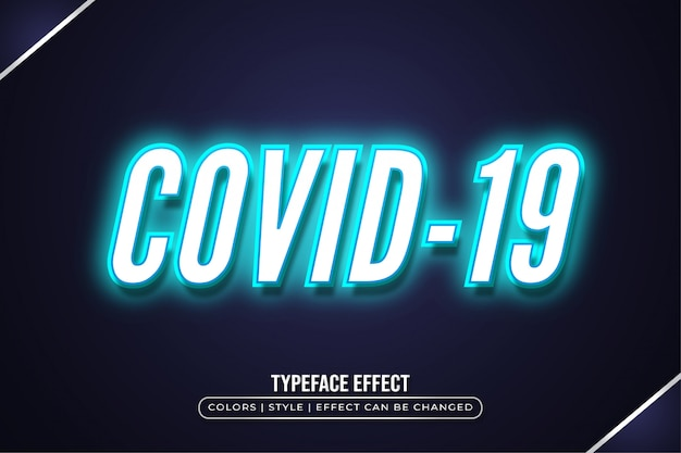 White text  with blue light effect