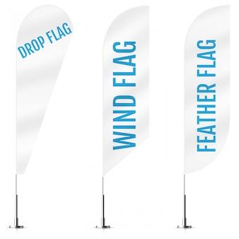 White textile drop