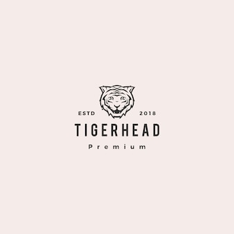 White tiger logo vector icon illustration