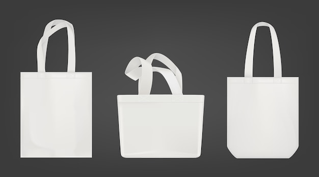 White tote shopping eco bags