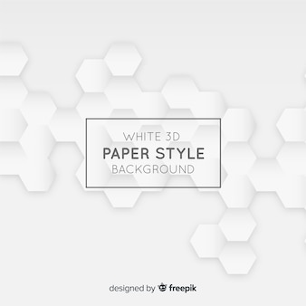 White tridimensional paper style background