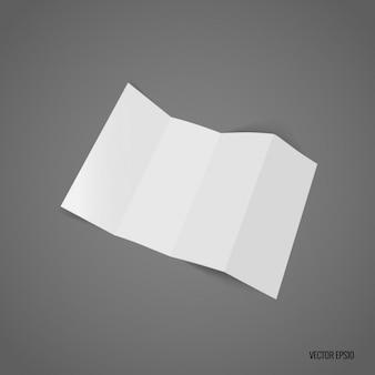Trifold bianco modello di progettazione