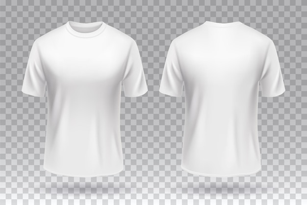 흰색 tshirt 앞면과 뒷면