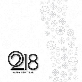 White typographic new year 2018 design Free Vector