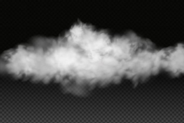 흰색 벡터 흐림, 안개 또는 연기.