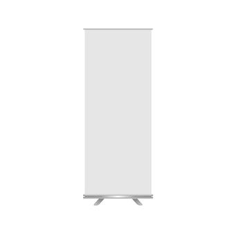 White vector mockup roll banner