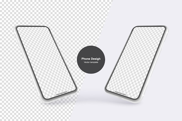 White vector phone isolated