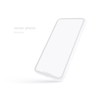 White vector phone