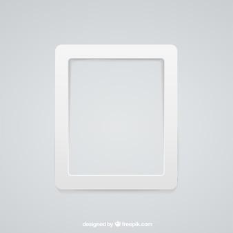 Белая рамка стена